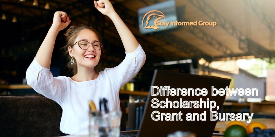 Difference between Scholarship, Grant and Bursary