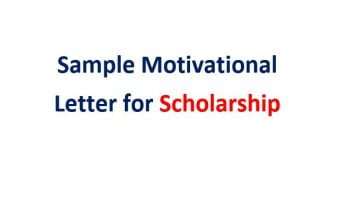 motivation letter sample