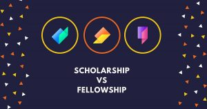 difference between fellowship and scholarship