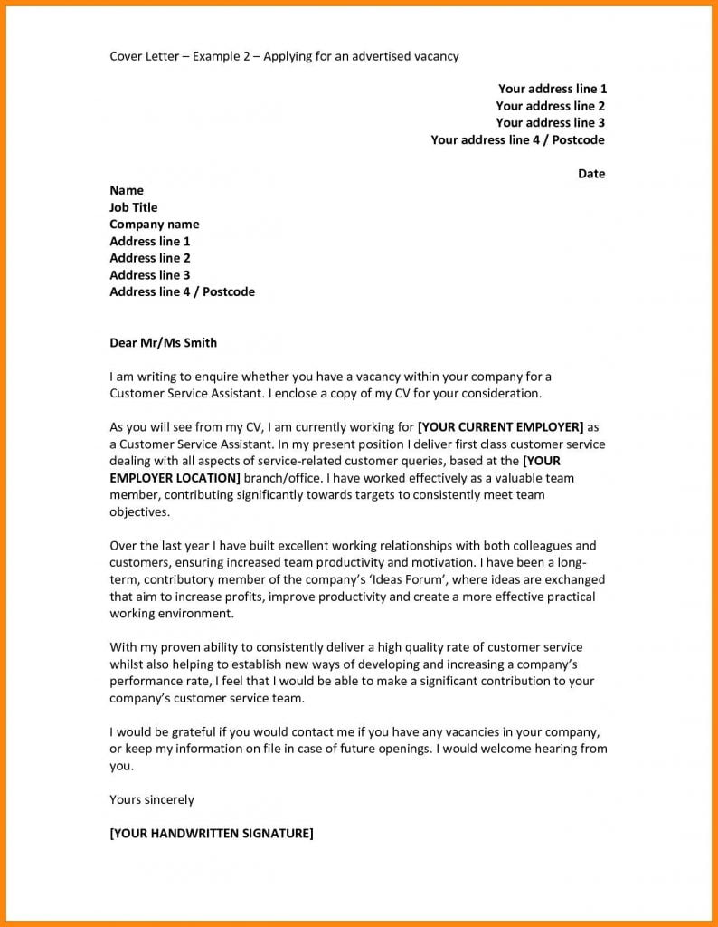 Motivation Letter For Job Application Example | Stay ...