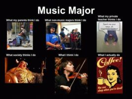 Music as one of the college easiest majors