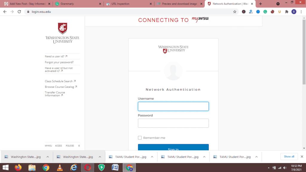 Washington State University, WSU Student Portal Login: my.wsu.edu