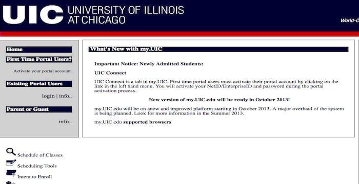 University of Illinois at Chicago, UIC Student Portal Login: my.uic.edu